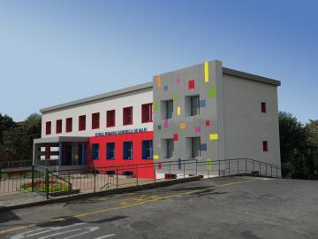 fotomontaggio progetto scuola elementare pelago